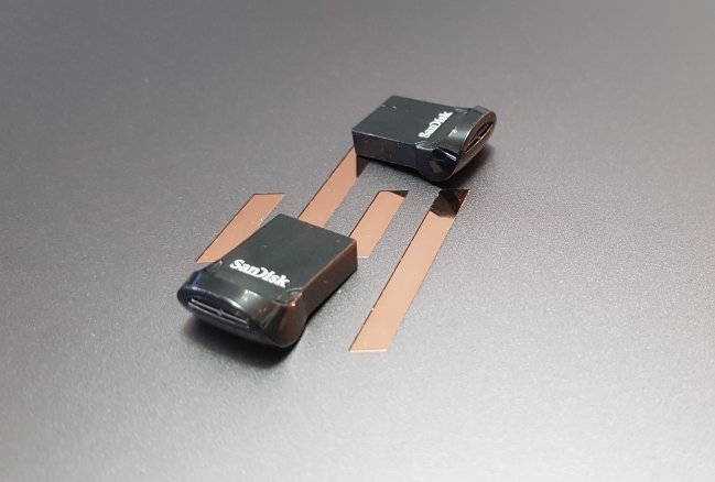 USB drive containing electronic parts catalog data